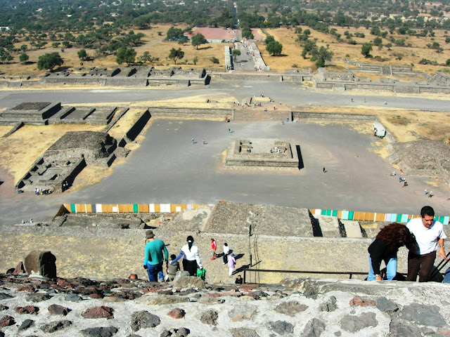 View from the top of the Pyramid of the Sun.