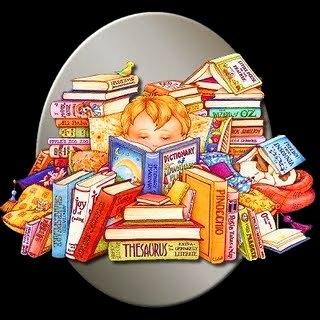 Dibujo de una niña leyendo por el Día Internacional del Libro Infantil y Juvenil a colores