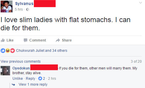 I can die for slim ladies with flat belly: See epic reply