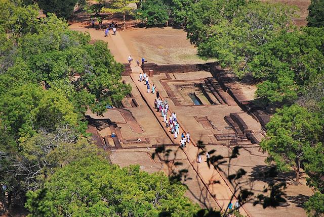 The ancient Sigiriya Rock in Sri Lanka