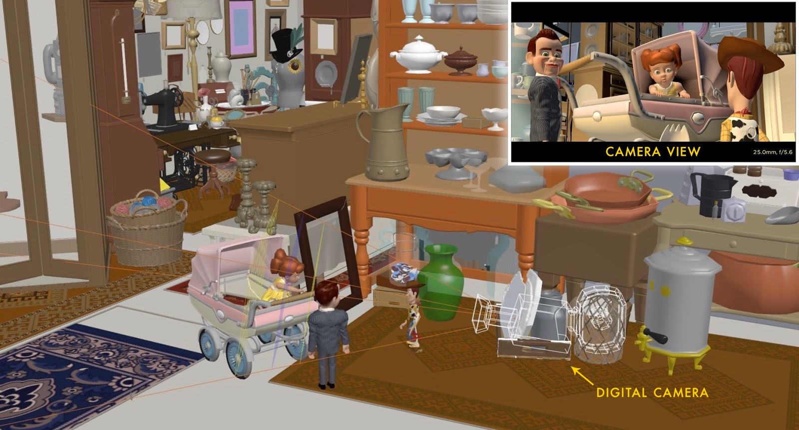 Designing the Antique Mall in 'Toy Story 4' – A I  Spiders