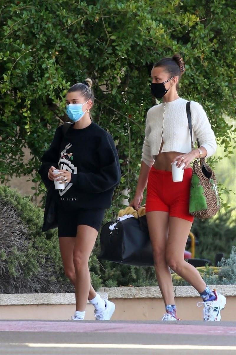 Bella Hadid, Hailey Bieber Arrives in Sardina 23 Jun -2020