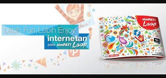 Cara Daftar Paket Internet Simpati Loop 12 GB 50 Ribu April 2017