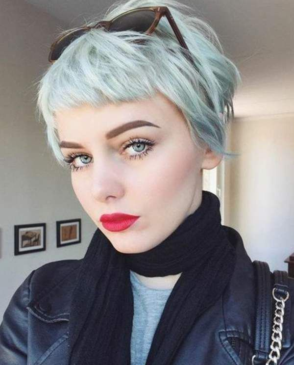 Short Pixie Cut With Short Bangs