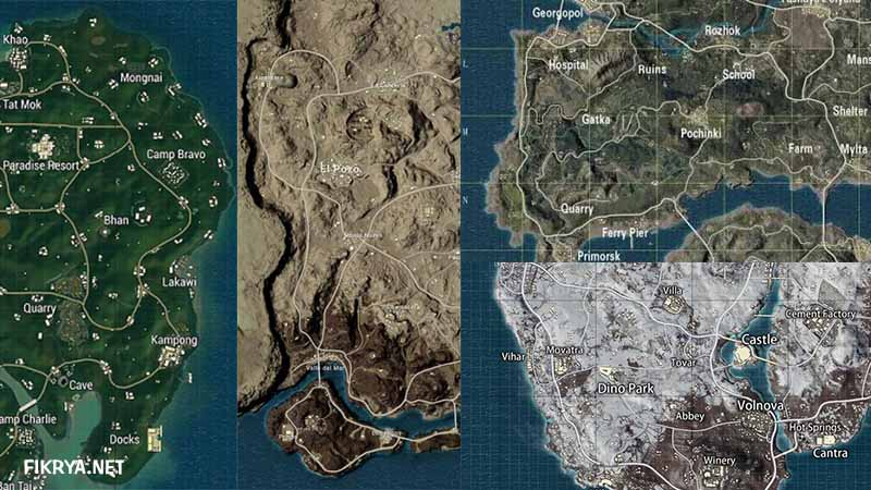 tips bermain pubg mobile map