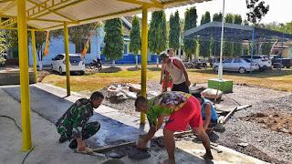 Pembangunan Garasi Di Koramil 05/Mayong.