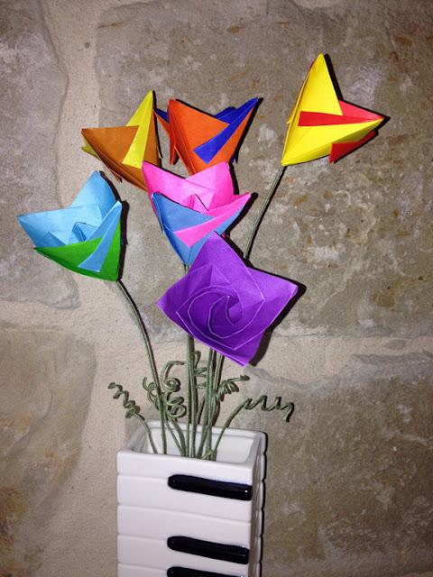 Origami simple flower mightylinksfo