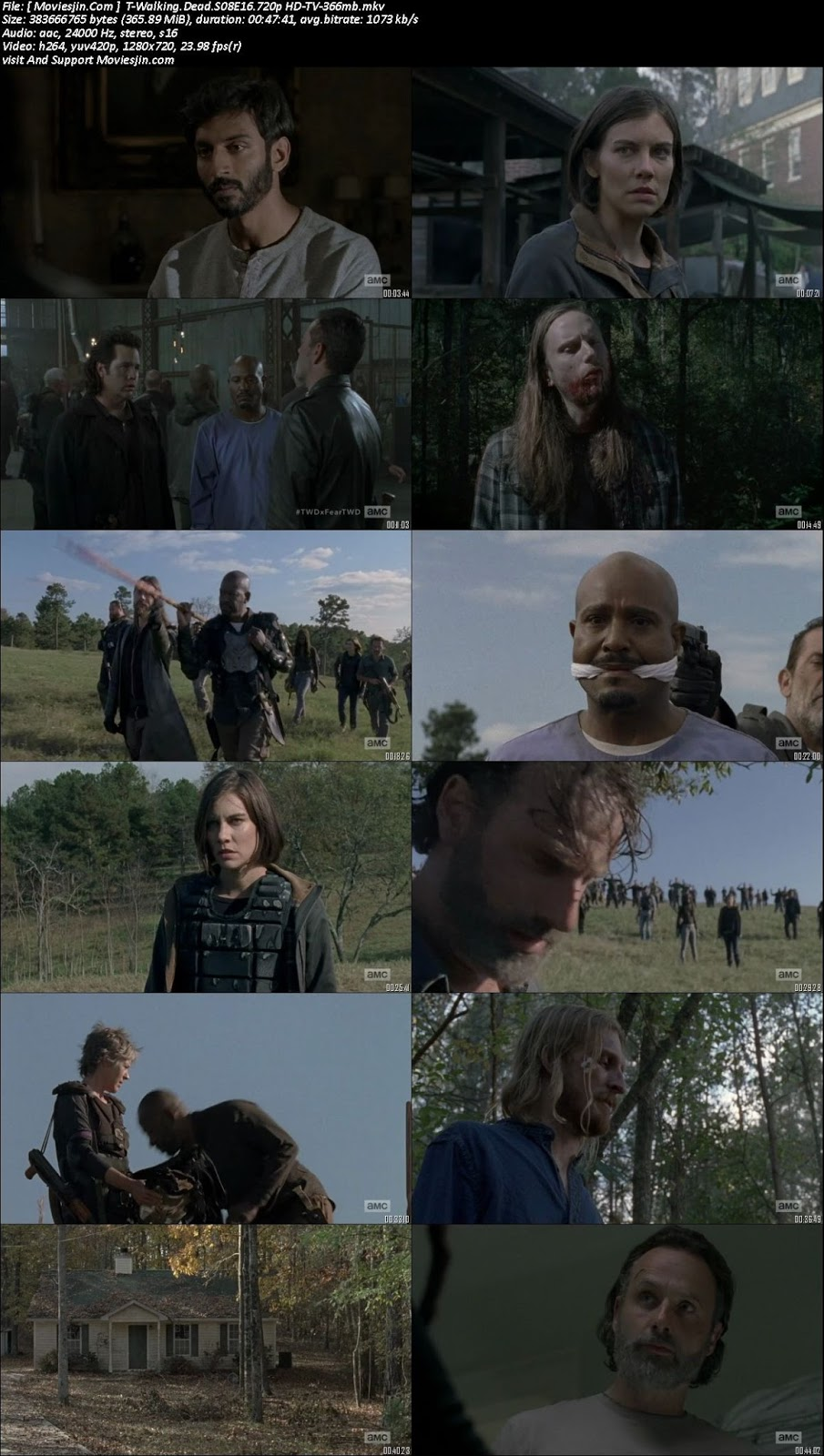 Watch online The Walking Dead S08E16 720p x264 TVRip 360MB downloadhub