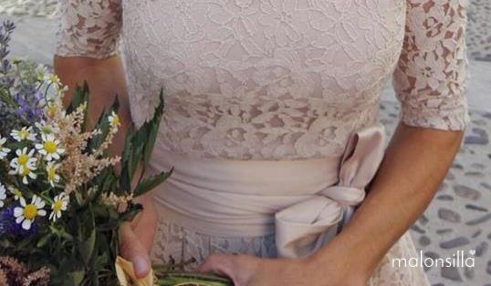 Detalle del ramo de flores de la novia