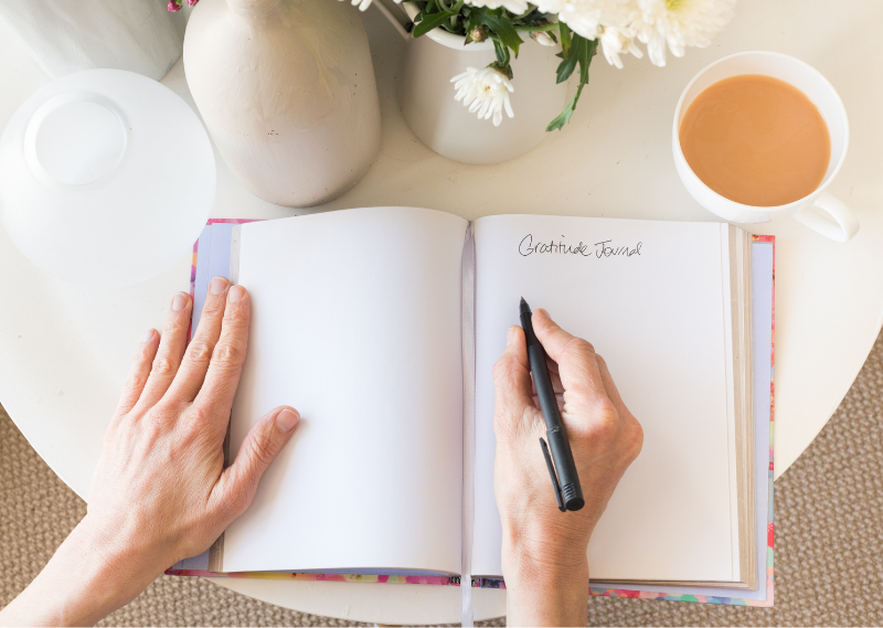 Journaling in a post about five ways to look after your wellbeing during lockdown.
