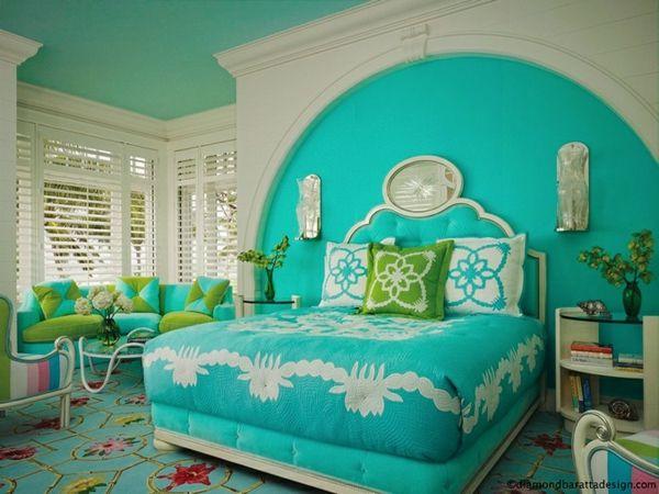 Ideas para decorar y pintar una habitaci n dormitorios for Pintura interior turquesa