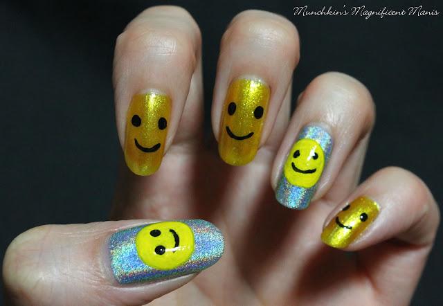 Happy Face Nail Design