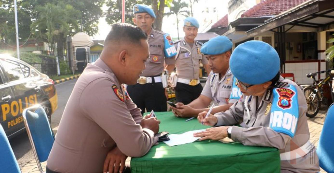 Polisi Periksa Polisi, Tingkatkan Disiplin Anggota Polres Malang Gelar Gaktibplin