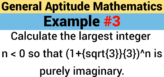 Calculate the largest integer $n < 0$ so that $(1+\frac{\sqrt{3}}{3})^n$ is purely imaginary.