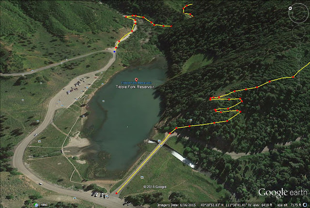 Tibble Fork Loop Trail, Tibble Fork Loop Trail #041 & #040, Tibble Fork loop trail map