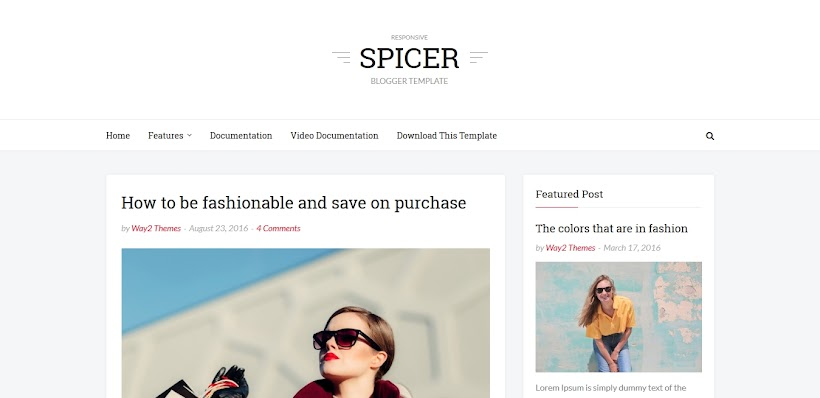 Spicer Free Blogger Template