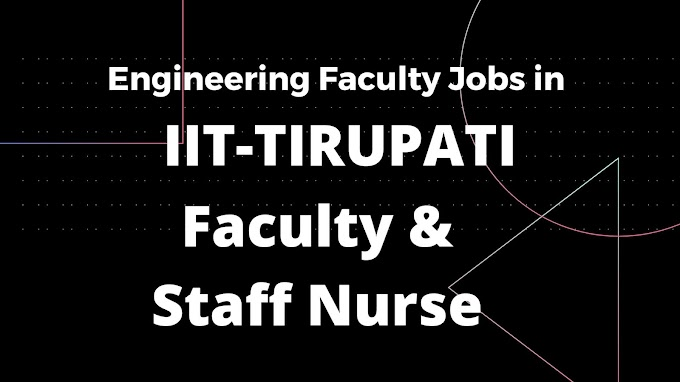 Faculty Jobs in Engineering Colleges