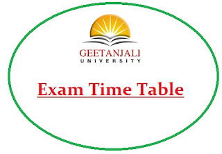 Geetanjali University Exam Date Sheet 2020