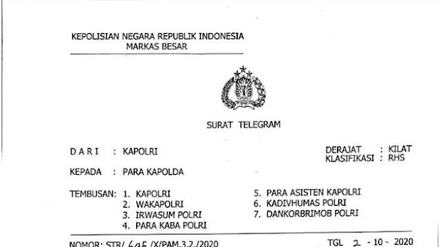 TR Kapolri Cegah Demo Tolak Omnibus Law Viral di Twitter