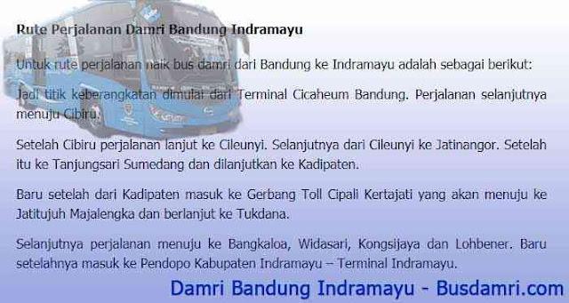 Damri Bandung Indramayu, Ini Info Tarif Tiket dan Jadwalnya