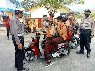 Kasat Lantas Polres Luwu Utara Pimpin Operasi Patuh,Sasar Kalangan Pelajar