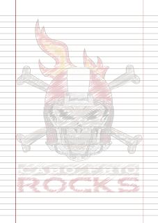 Folha Papel Pautado Cabo Frio Rocks rabiscado em PDF para imprimir folha A4