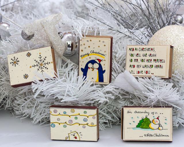 Tarjetas navideñas de amor en miniatura