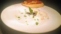 White sauce chicken pasta recipe with garlic bread