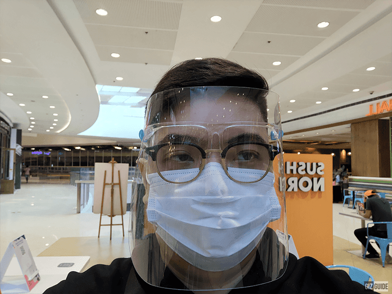 Selfie camera indoors