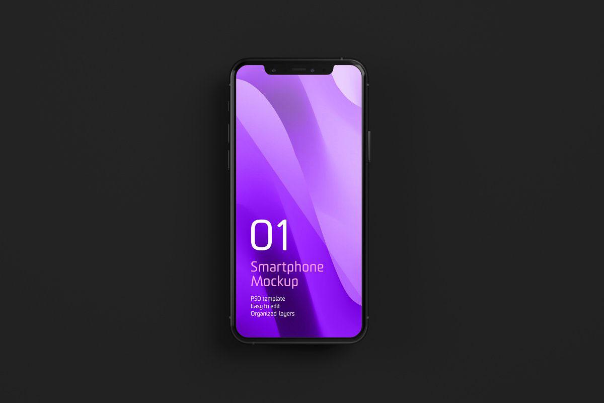 Dark iPhone 11 Pro Dark Mockup 521274