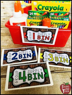 Farmhouse Supply Tub Labels