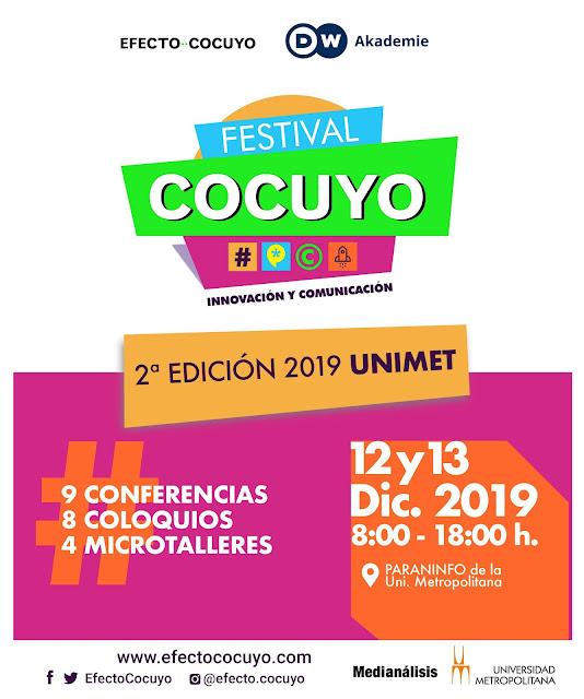 VENEZUELA: La segunda edición del Festival Cocuyo llega a Caracas este 12 y 13 de diciembre.