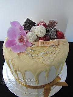 orchid white drip cake chocolat