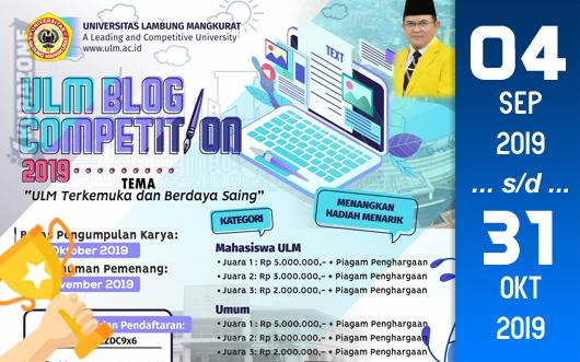 Kompetisi Blog - ULM Berhadiah Uang Tunai Jutaan Rupiah dan Piagam Penghargaan