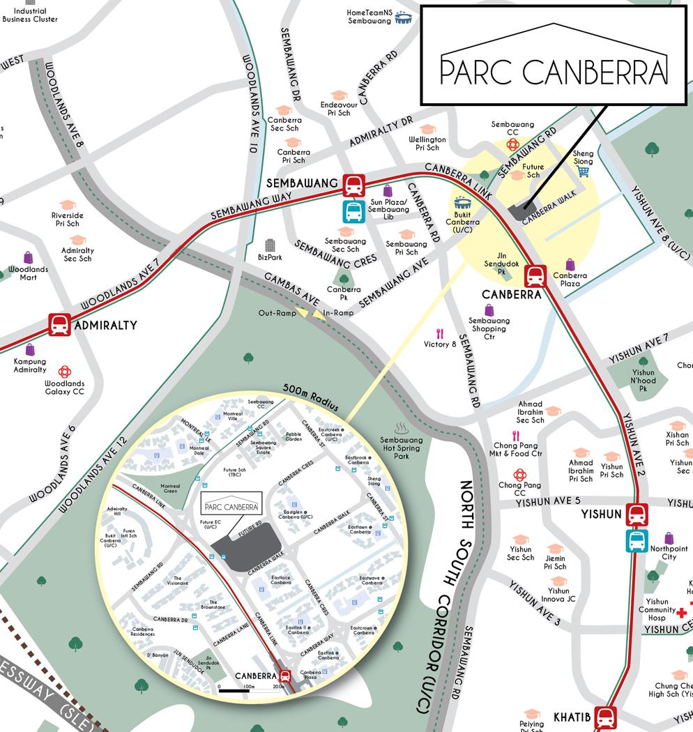 Parc Canberra EC - Location Map