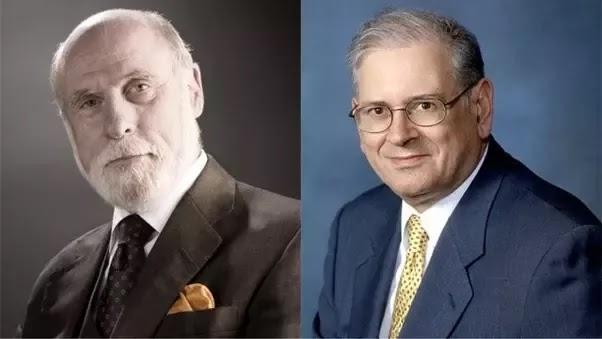 Vint Cerf and Robert E. Kahn