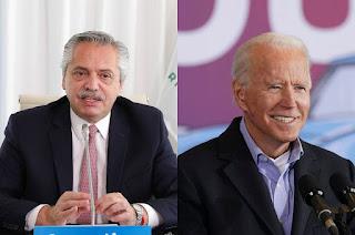 Fernández mantuvo una conversación telefónica con el presidente electo de EEUU, Joe Biden