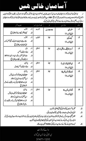 Pak Army Jobs March 2020