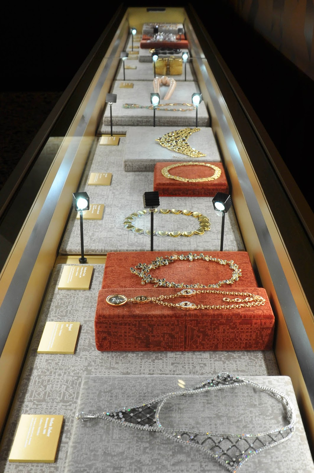 The jewellery case in the Beauty room in the Museum of the Jewellery in Vicenza