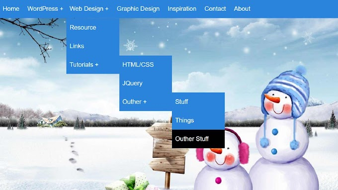 How To Create Drop Down Menu In HTML and CSS