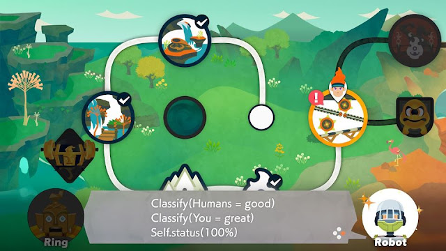 Ring Fit Adventure World 19 Getting Rusty Robot classify humans good