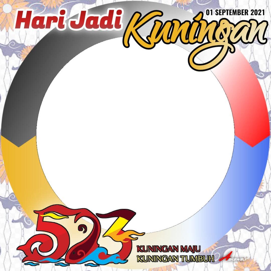 Template Frame Bingkai Twibbon Ulang Tahun ke-523 Kabupaten Kuningan 2021