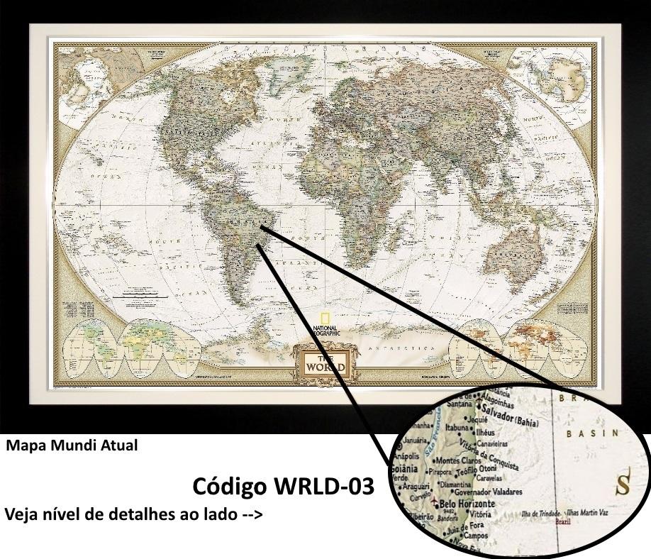 mapa do mundo quadro