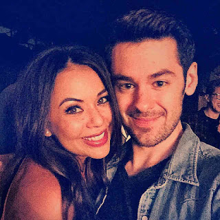Janel Parrish and Brendan Robinson at 'Cruel Intentions'