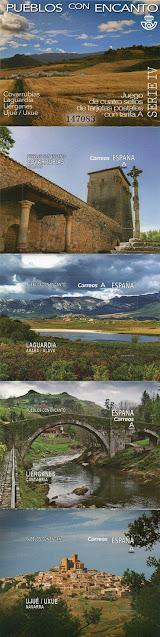 sellos, Pueblos con Encanto, 2019, Covarrubias, Laguardia, Liérganes, Ujué