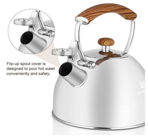 ECPURCHASE Tea Kettle for Stovetop Whistling Tea Pot