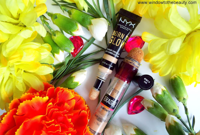 NYX  Born To Glow Concealer vs Maybelline Instant Anti-age eraser Eye Concealer