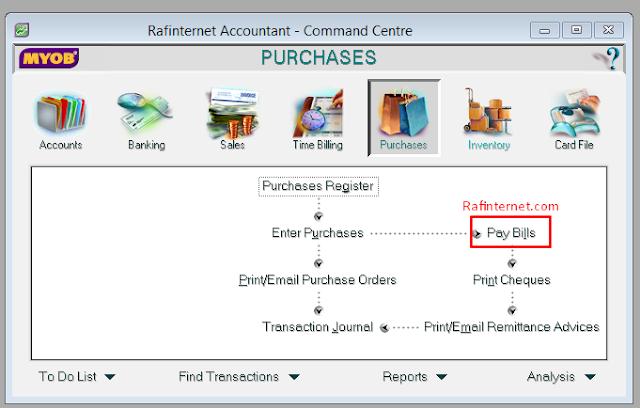 Cara mencatat pelunasan tagihan / invoice pada myob
