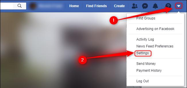 إعدادات Facebook