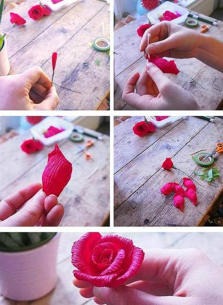 Mistichi Site Cara Membuat Bunga Dari Kertas Krep